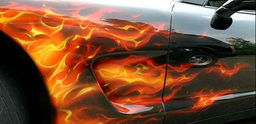 Cars With Flames Painted Welcome To AirBrushDepots Auto Air - Custom vinyl decals for rc carsimages of cars painted with flames true fire flames on rc car