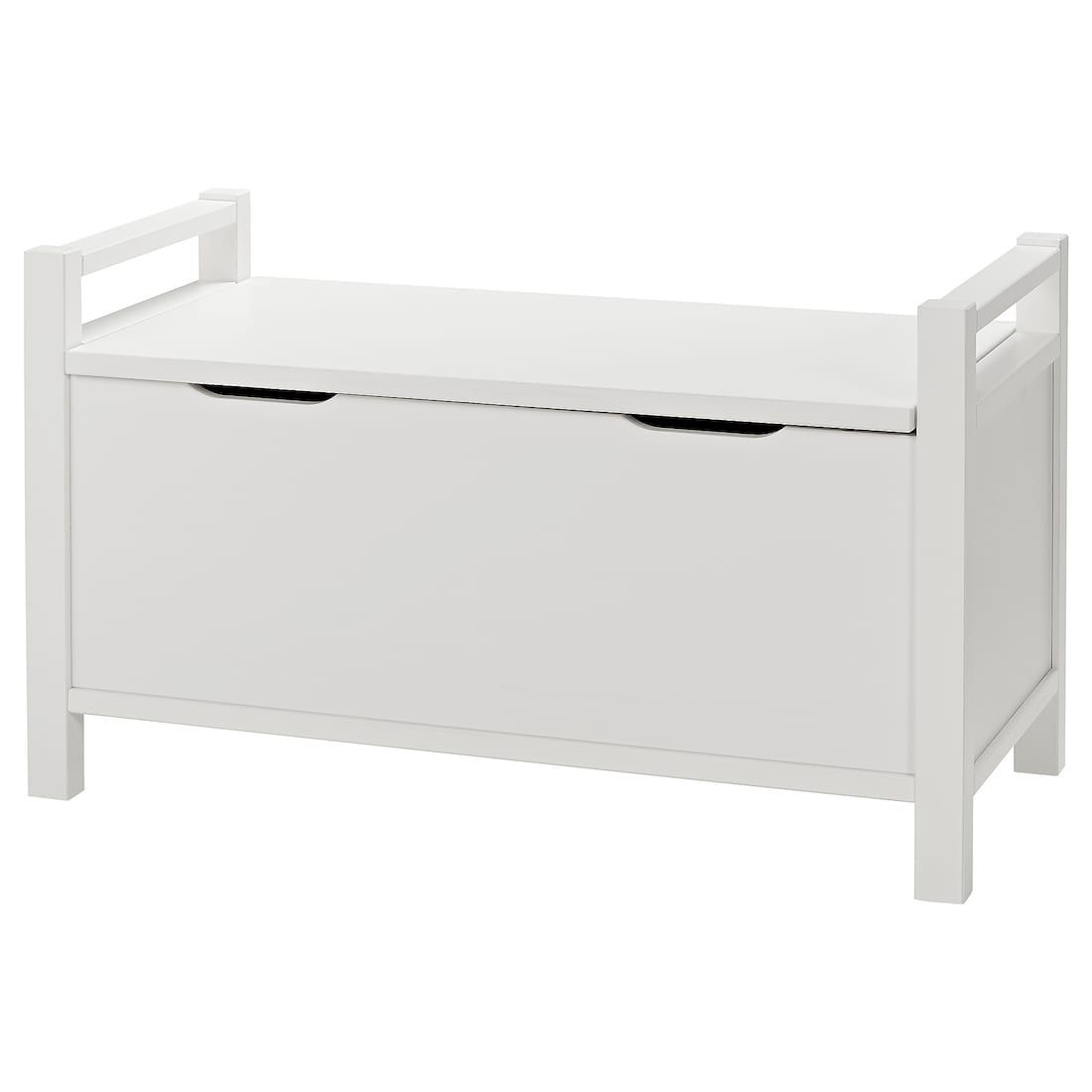 Hemnes Banc Coffre Blanc Teinte Blanc Banc Coffre Coffre Blanc Stockage Ikea