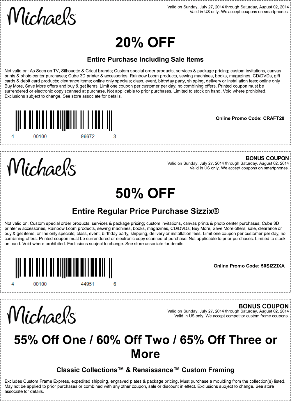 Pinned July 28th: 20% off everything at Michaels, or online via ...