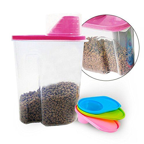 Pet Food Container TIOVERY Pet Food Storage Dispenser for Dogs Cats Birds  Pink  * Check this awesome product by going to the link at the image.(This is an Amazon affiliate link and I receive a commission for the sales)