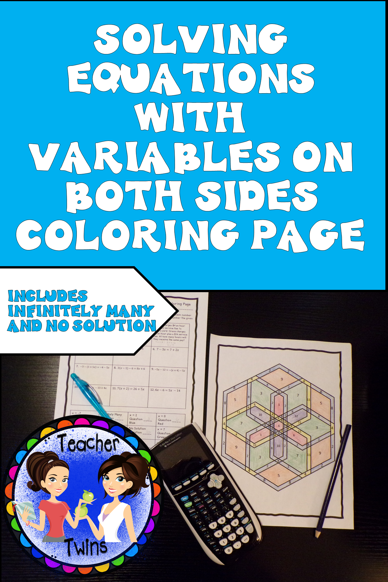 Variables On Both Sides Equations Coloring Page