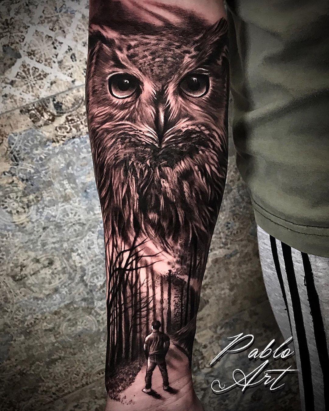 #buho #buhotattoo #owl #owltattoo #forestal #tatuajes #tatuagens #tattoosociety #tattoolifestyle #tattooworld #tattoolovers #tattoosleeves #tattoosociety #valenciatattoo #tattoovalencia #instatattoos #valencia #alzira #alziratattoo #pabloart #lagalerianegra #tattooestudio