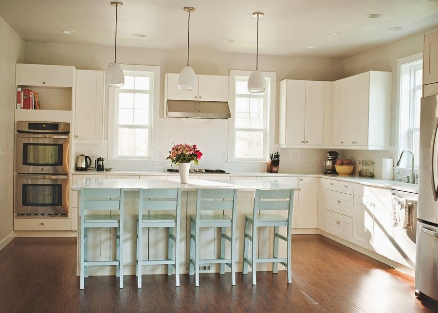 This Sweet Reverie Our All White Ikea Kitchen Cost Plus World Market Island Chairs Painted Bm