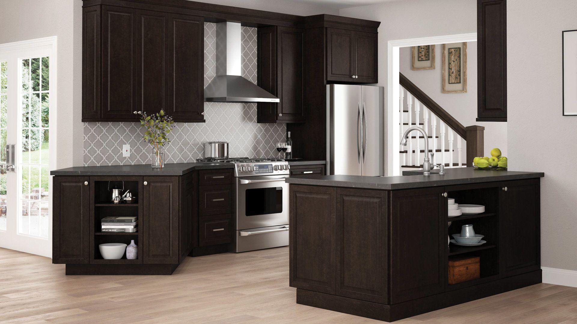 Gretna Wall Cabinets In Espresso Kitchen The Home Depot In 2020 Home Depot Kitchen Espresso Kitchen Cabinets Kitchen Set Cabinet