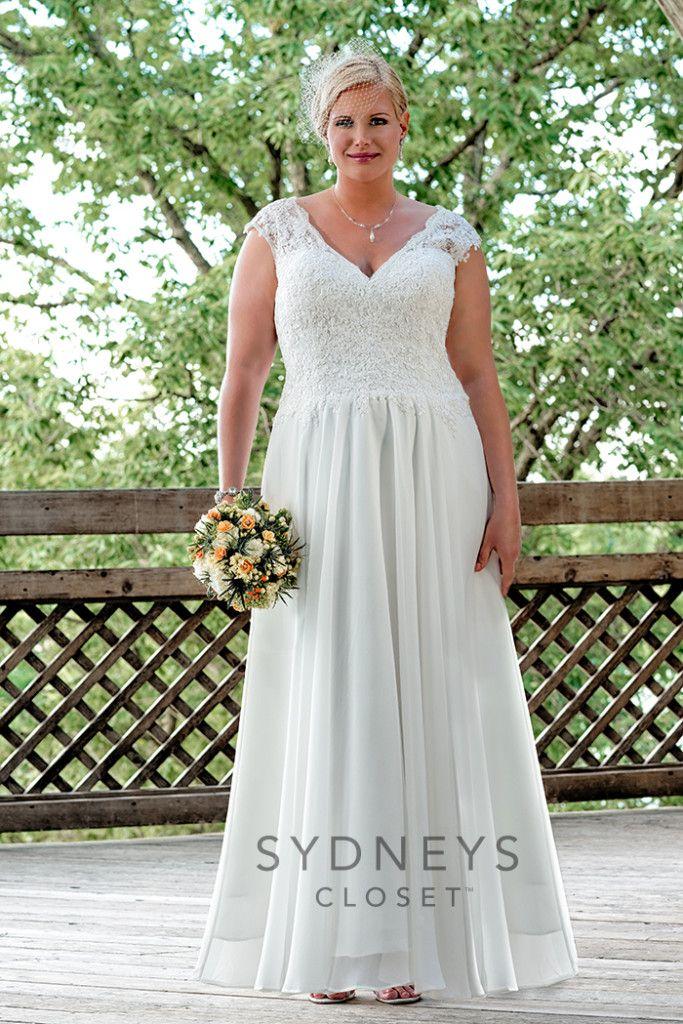 Plus Size Wedding Gown Summer Wedding Gown One Day Pinterest