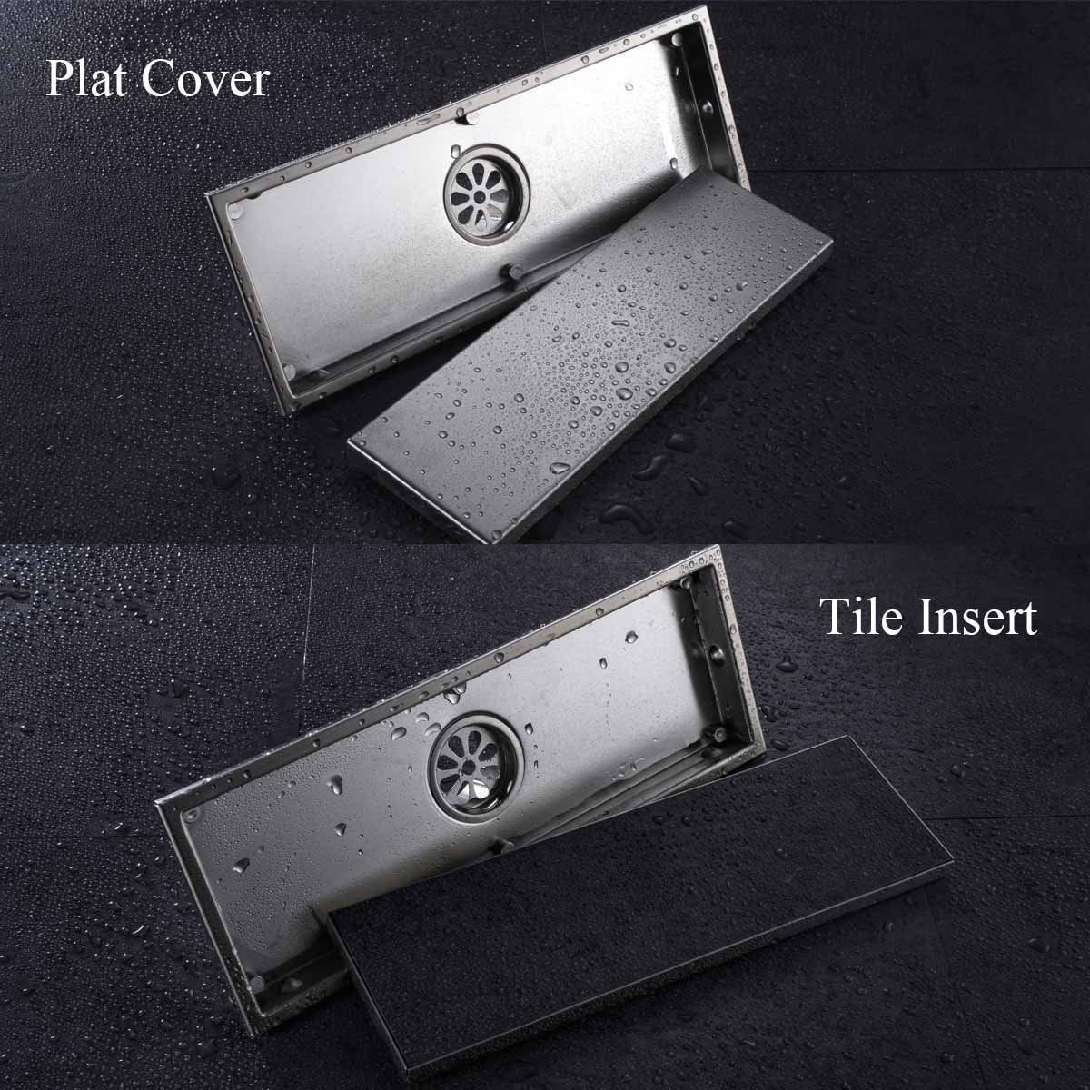 Hanebath Linear Shower Drain Floor Strainer With Tile Insert Grate Made Of Sus304 Stainless Steel 12 Inch Long Shower Drain Floor Drains Bathroom Hardware