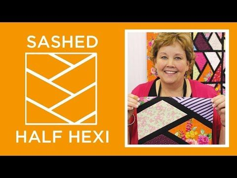 The Sashed Half Hexi Quilt (Missouri Star Quilt Company - YouTube ... : quilting tutorials on youtube - Adamdwight.com