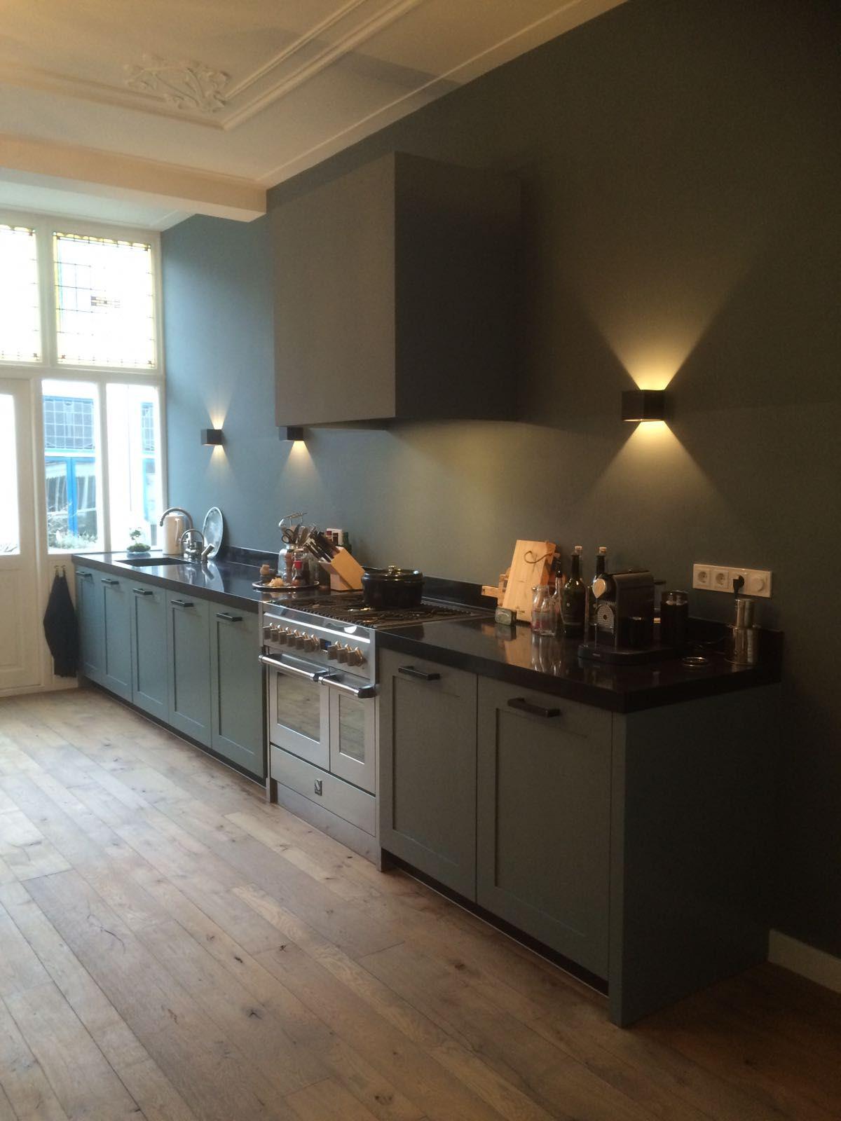 Keuken Met Eiken Kaderfront In Een Mooie Petrol Kleur Made By Het Culemborgs Keukenhuis Keuken Inspiratie Keuken Keuken Ideeen