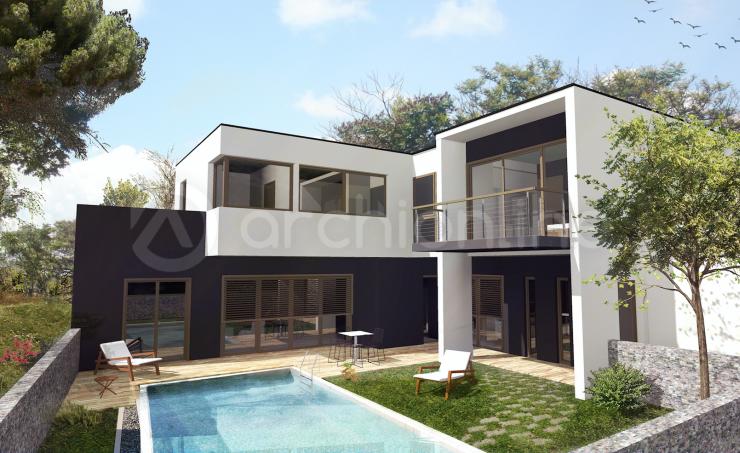 Maison bamako plan de maison moderne par archionline for Plan de villa moderne