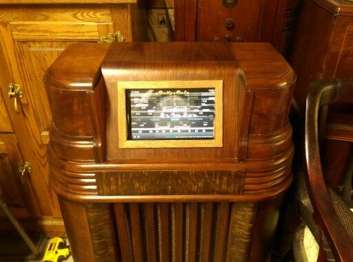 Touch Screen Jukebox Front From An Antique Philco Radio