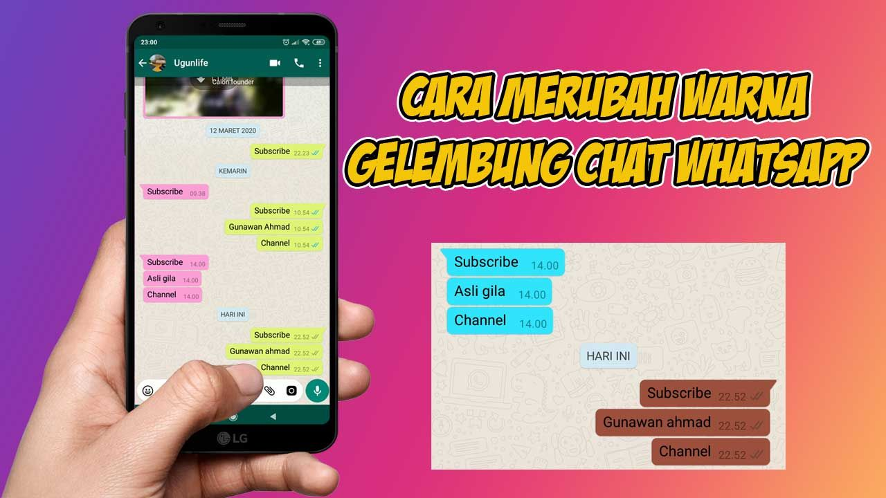 whatsapp,trick whatsapp,tips whatsapp,gelembung chat,merubah warna ...