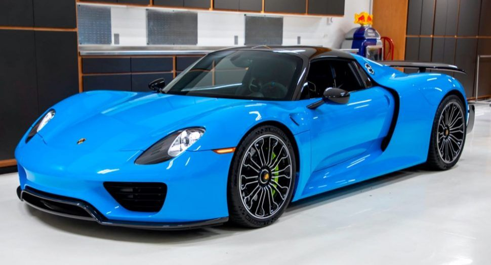 Deze Porsche 918 Is Riviera Blue Mag Dat Autoblog Nl Porsche Auto Ferrari