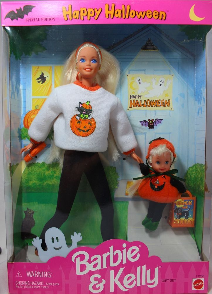 Image result for 1997 Target Halloween Fun Barbie & Kelly Set
