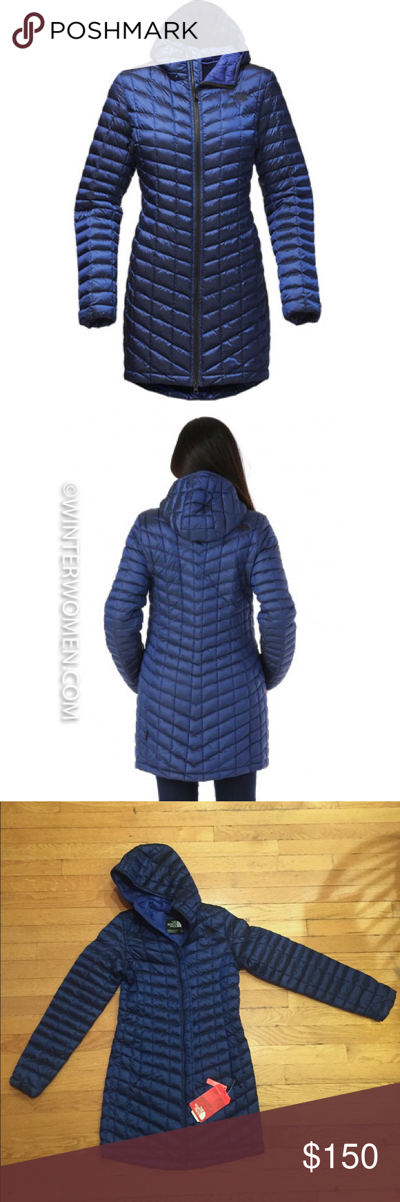 ☀️NWT The North Face ThermoBall Parka II Brit Blue The North Face Women s  ThermoBall Parka df699ffd1