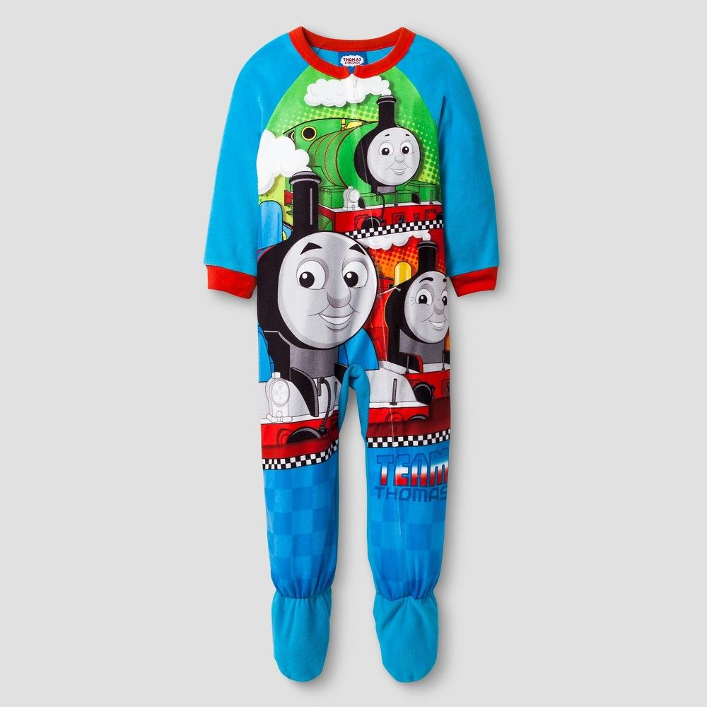 5e7a10dc9 Toddler Boys  Thomas and Friends Long Sleeve One-Piece Footed ...
