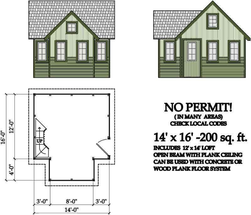 200 sq ft cabin plans