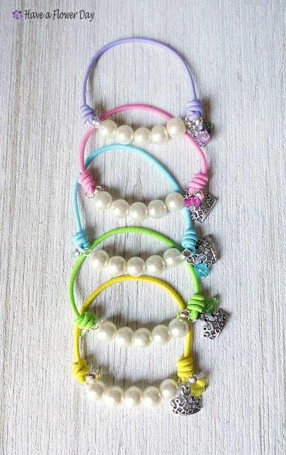 Pearl 03 Pearl Bracelets With Elastic Cord 10 Colors Available