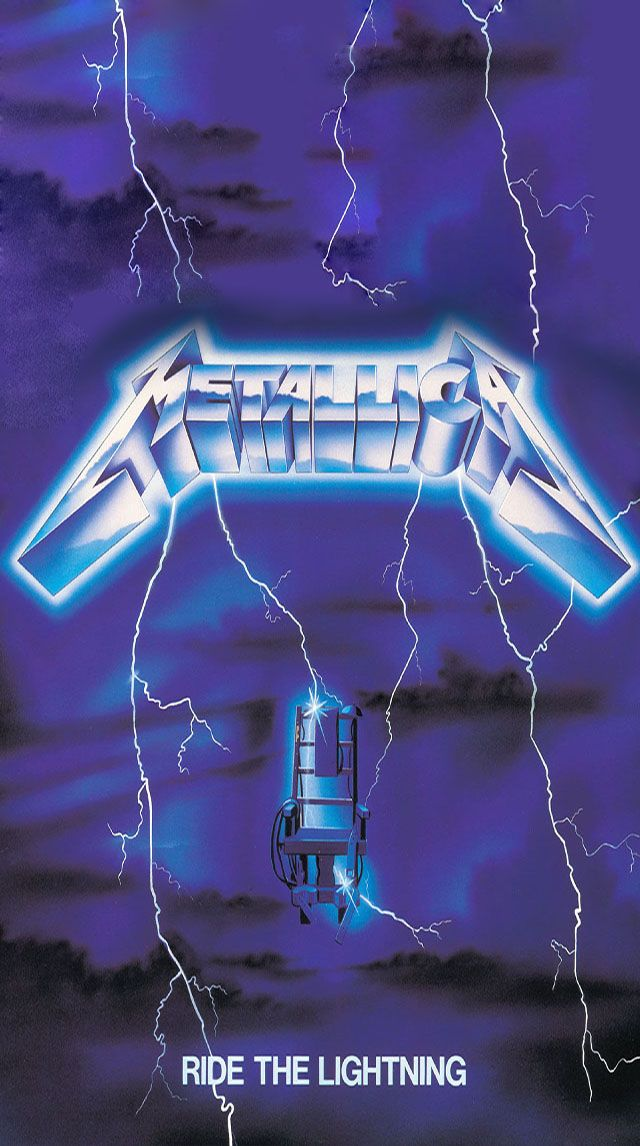 Metallica Ride the lightning phone wallpaper Ride the