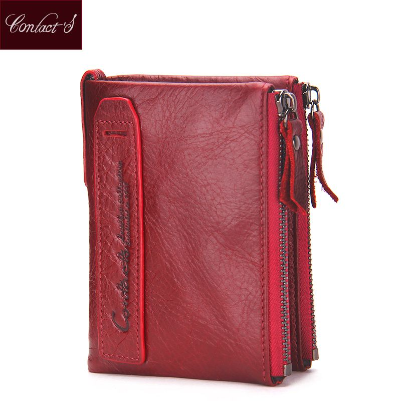 2016 Fashion Genuine Leather Women Wallets Bifold Wallet ID Card holder  Coin Purse Pockets Clutch with zipper Womens Wallet 382d420be08e