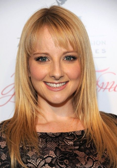 Cool Long Straight Cut With Bangs For Thin Hair Melissa Rauch Short Hairstyles For Black Women Fulllsitofus