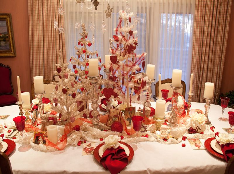 Valentine S Day Themed Trees For Table Centerpieces Pretty