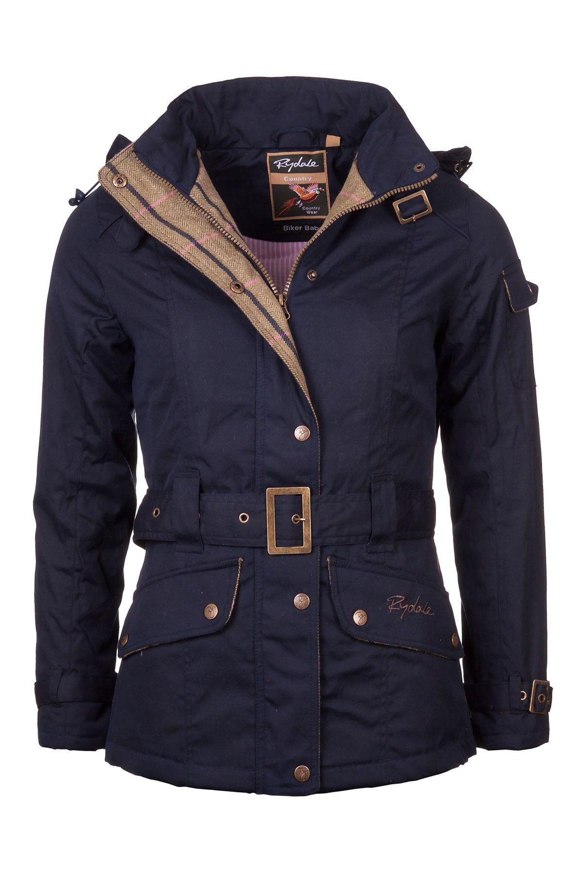 Rydale Ladies Wax Belted Biker Babe Jacket