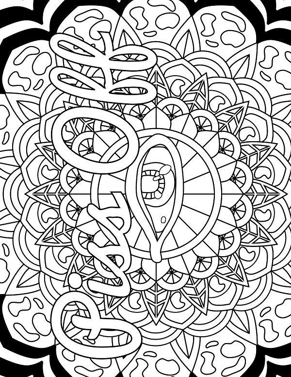Eye - Adult Coloring page - swear 14 FREE printable coloring pages