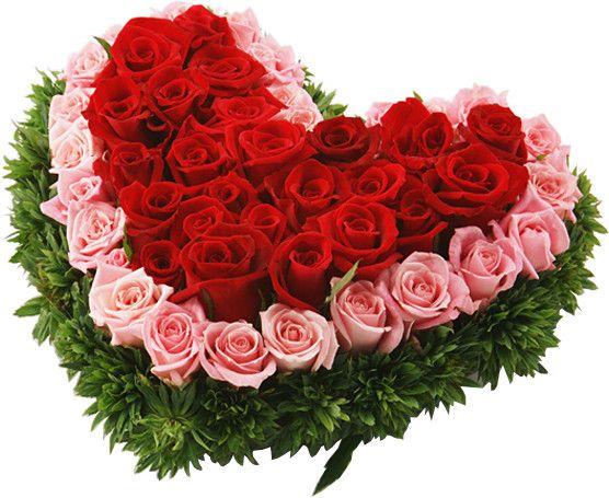 Corazon con rosas rojas y rosa de Flores Toluca http://www.florestoluca.com