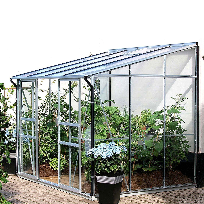 Serre De Jardin En Verre Trempe 788711 5 2 M Lams En 2020 Serre Jardin Serre De Jardin Polycarbonate Et Serre Adossee