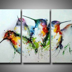 Decor Interior Paint Ideas With Bird Painting On Canvas Set Of 3 For Modern Living Room Design Bird Paintings On Canvas Multi Canvas Painting Birds Painting