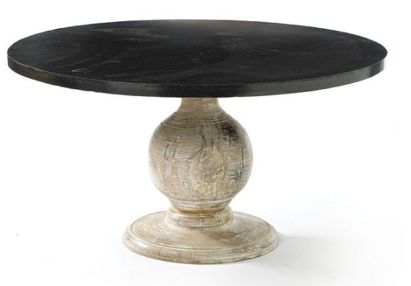 The Maverick Round Dining Table Round Pedestal Dining Table