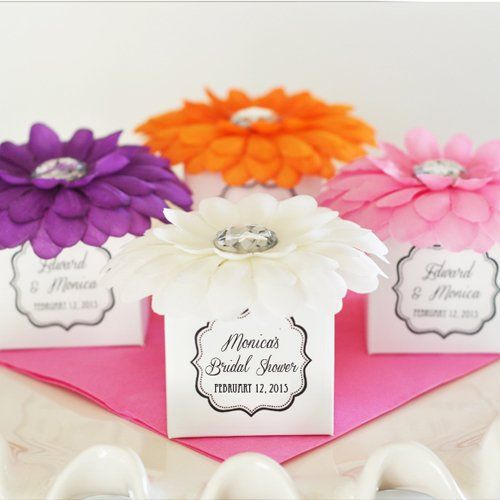 personalized bridal rhinestone flower favors boxes flower favor boxes favor boxes flower gift box