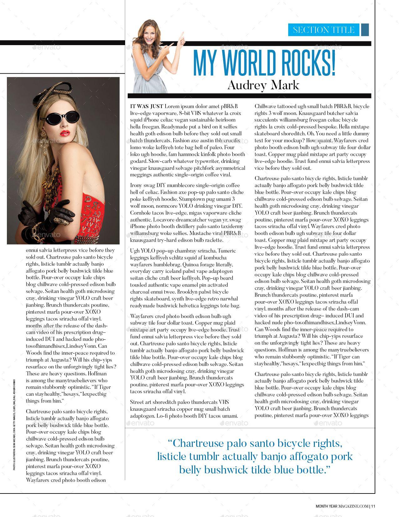 Magazine Template | Pinterest | Magazines