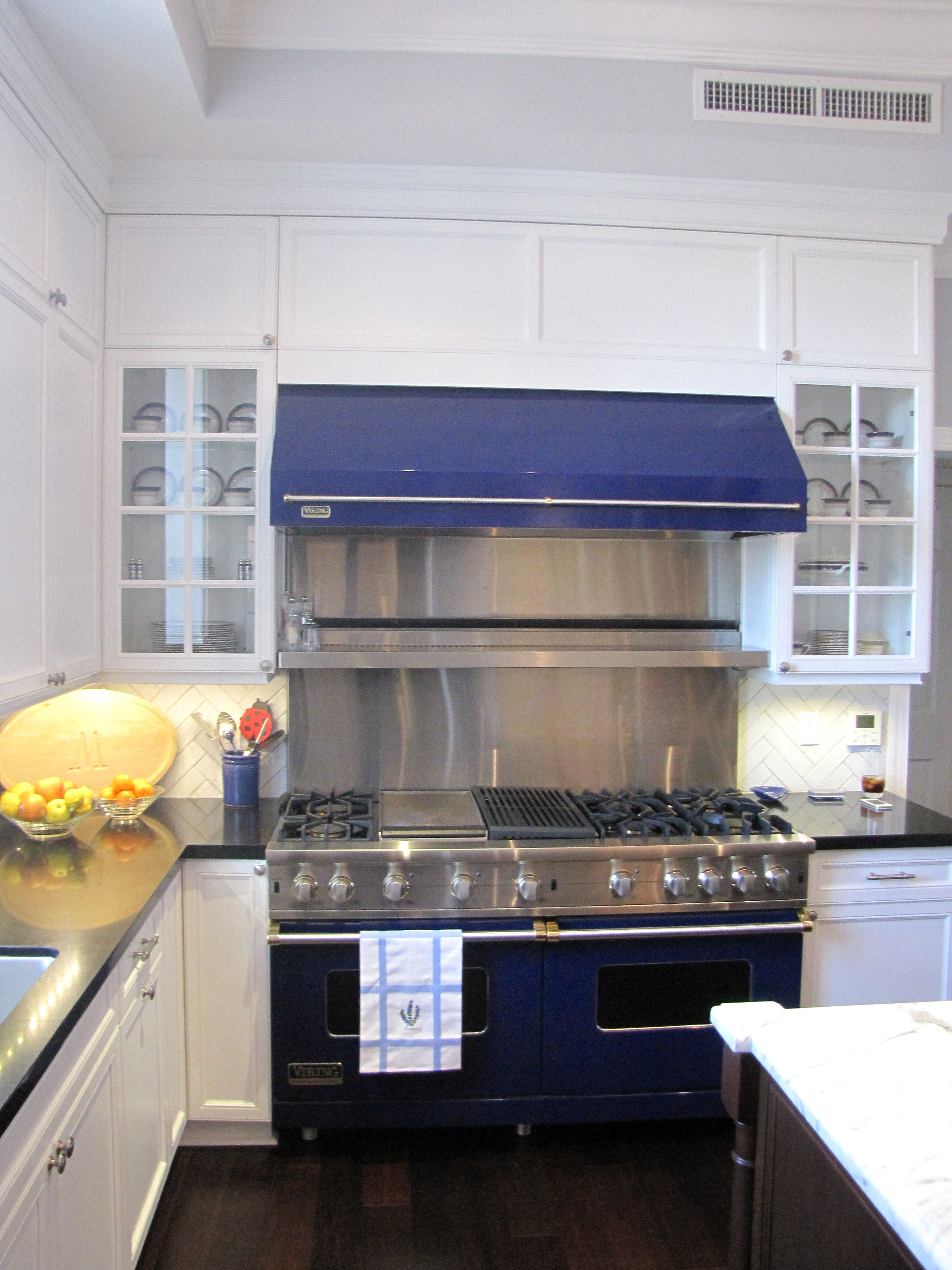 "60"" Cobalt Blue Viking Range With Hood"