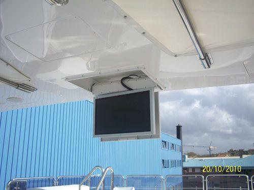 support tv de plafond t l command motoris pour plafond. Black Bedroom Furniture Sets. Home Design Ideas