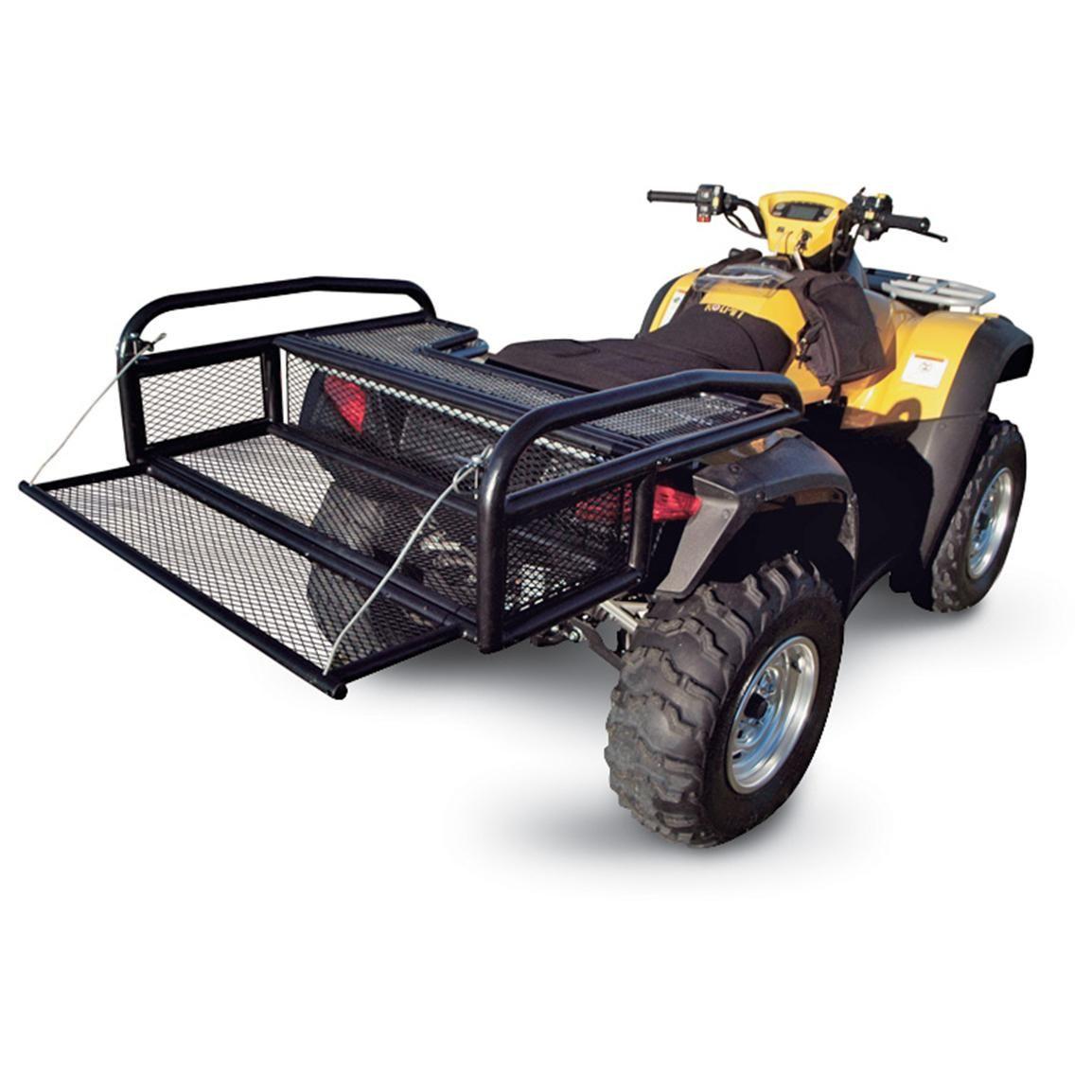 rear com quadboss black sport automotive rack amazon dp atv universal
