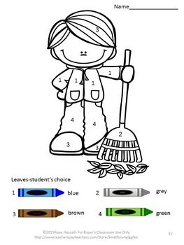 Fall Coloring Pages Color By Number Math Worksheets Special Education Pk K Kindergarten Special Education Fall Kindergarten Special Education