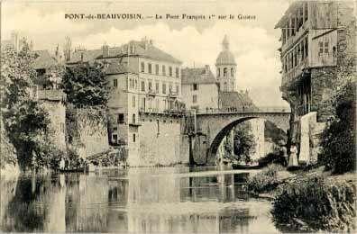 Carte Postale Pont De Beauvoisin Le Pont Francois 1er Sur Le