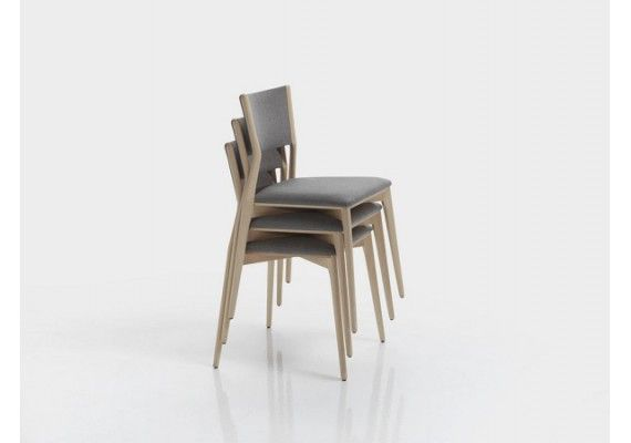 Precio y oferta silla de comedor apilable tapizada for Sillas de madera precios