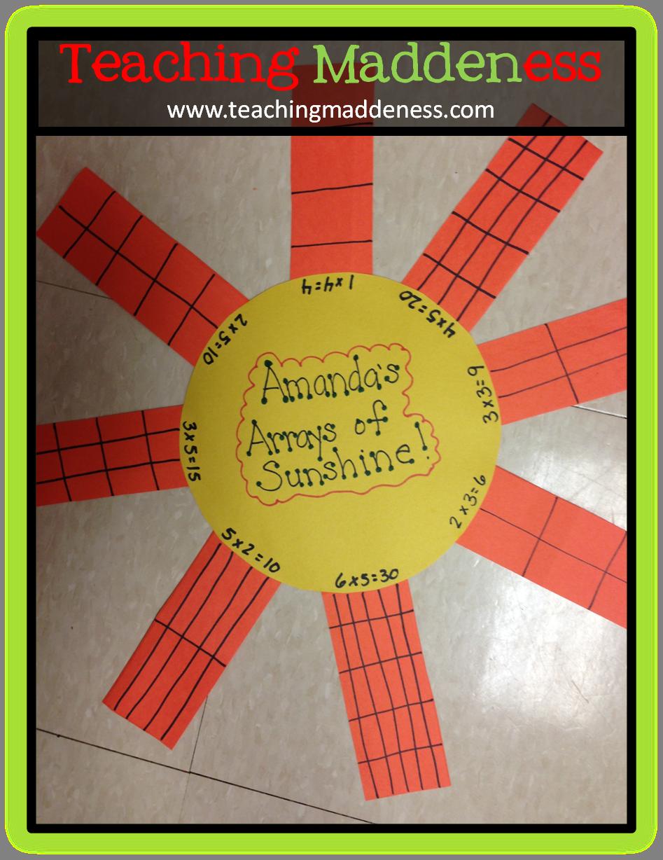 Teaching Maddeness Math Crafts Math Projects Third Grade Math [ 1228 x 947 Pixel ]