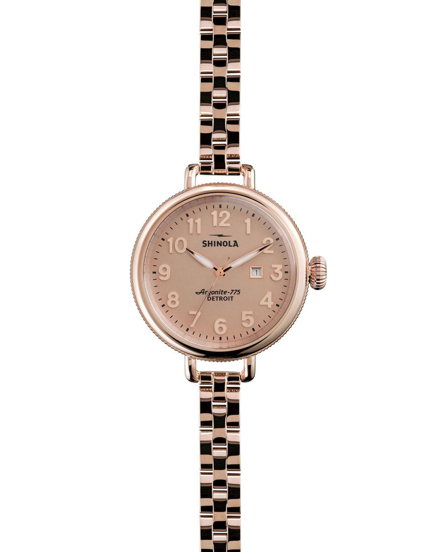 The birdy rose golden watch mm womenus rose gold shinola