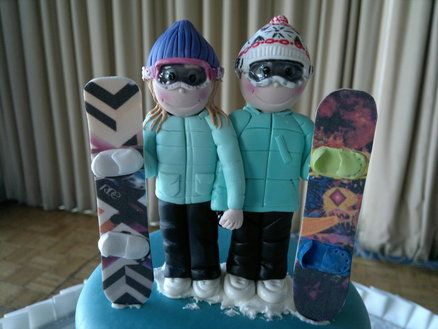 Snow couple Cake by Paul Delaney