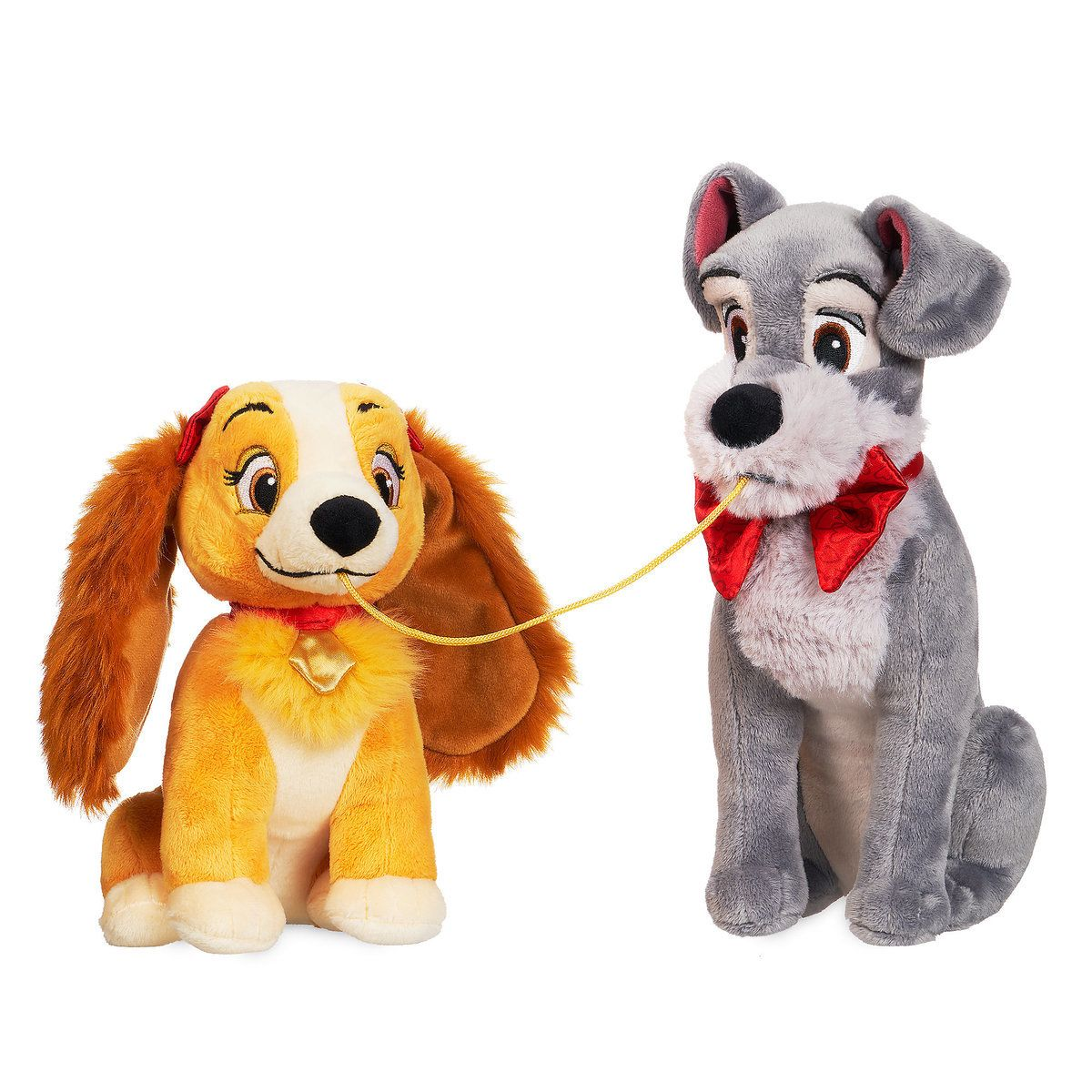Lady And The Tramp Plush Set Valentine S Day Small Disney Stuffed Animals Cute Stuffed Animals Animal Plush Toys