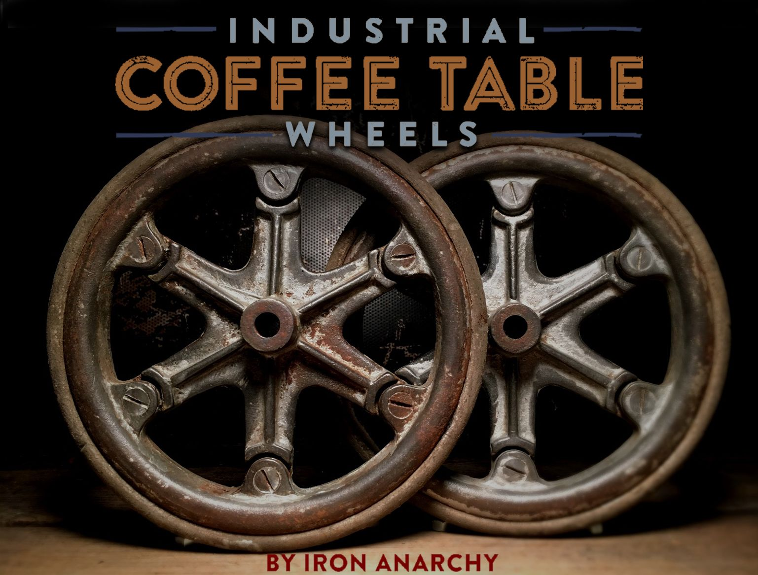 Perfect For Your Industrial Chic Coffee Table  Vintage Iron Factory Cart  Wheels From IronAnarchy.com