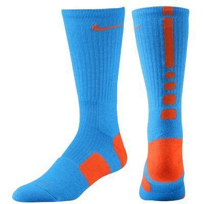 cd7c2075e Youth Nike Elite Basketball Crew Socks - Blue/Orange on Wanelo ...