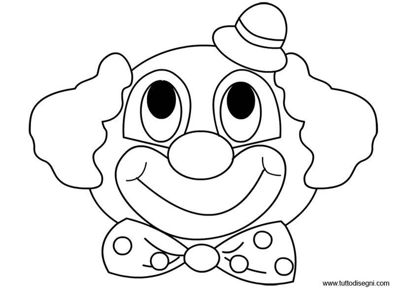 Disegni Carnevale - Pagliaccio con cappello da colorare ...
