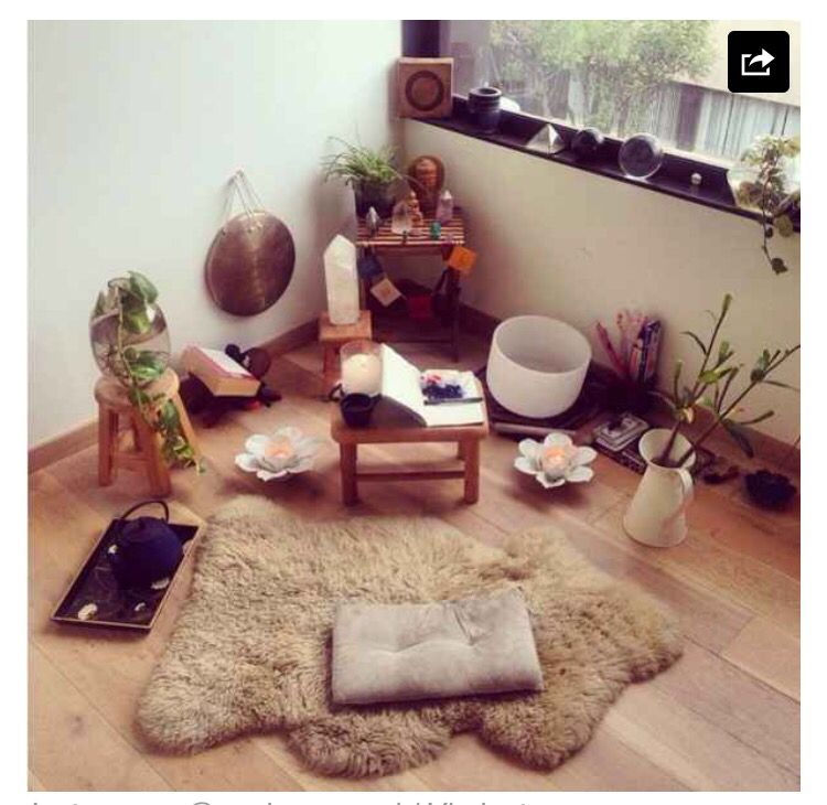 This Fuzzy Lambskin Rug And Crystal Filled Corner 21 Super Calming Es That Will Make You Want To Meditate Right Now
