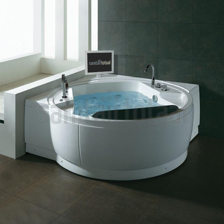 Bubbelbad met tv, bubbelbad badkamer, luxe badkamer, welness ...