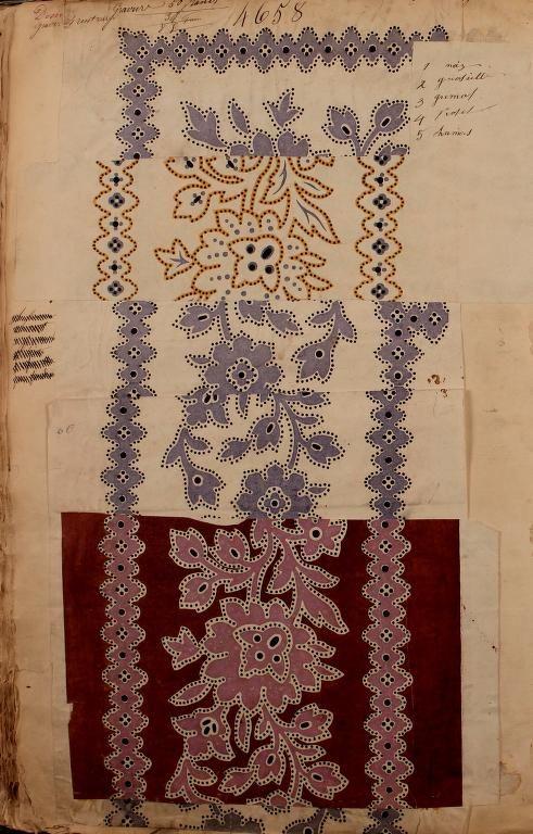 "catalogue ""Maison Robert"" textile, 1863."