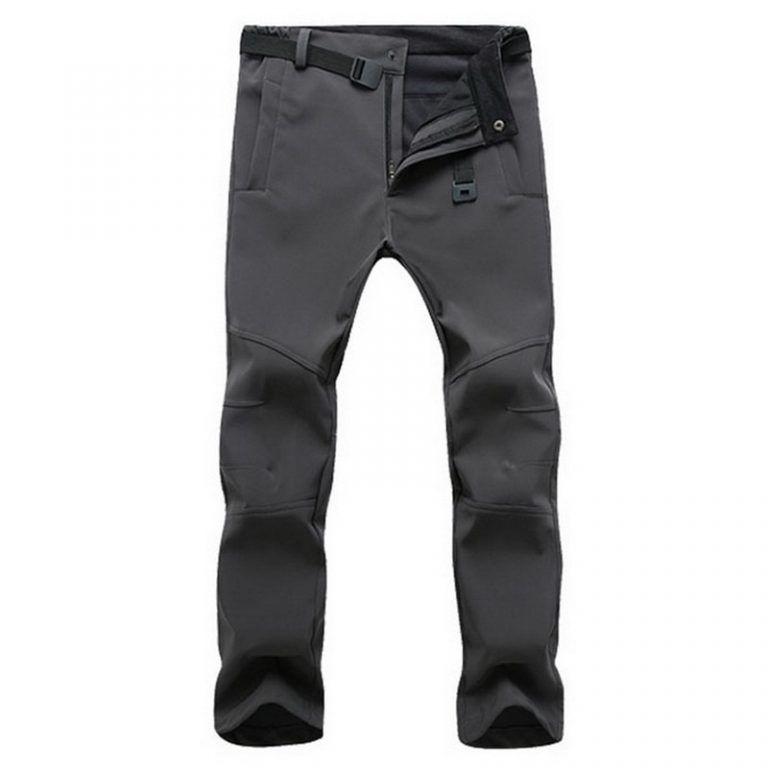Mens Thick Fleece Thermal Trousers Tactical Outdoor Combat Work Pants Waterproof